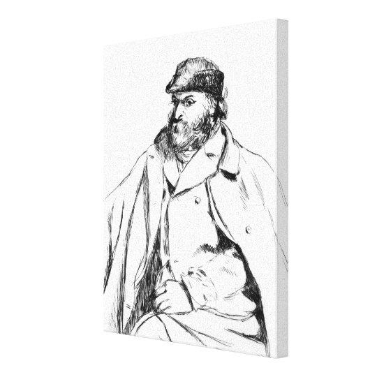 Portrait of Cezanne, 1874 Canvas Print