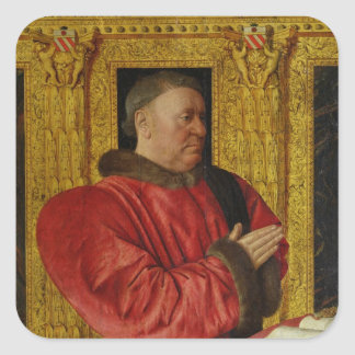 Portrait of Chancellor Guillaume Jouvenel Square Sticker