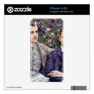 Portrait of Charles and George by Pierre Renoir iPhone 4 Decal