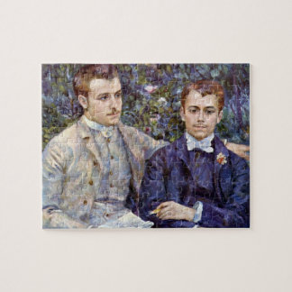 Portrait of Charles and George by Pierre Renoir Jigsaw Puzzles