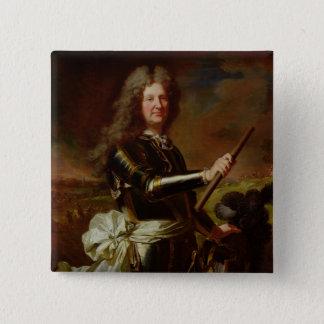 Portrait of Charles-Auguste de Matignon Pinback Button