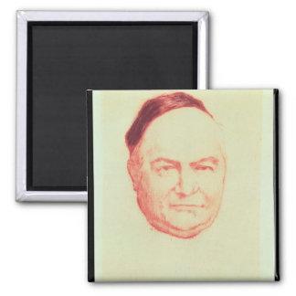 Portrait of Charles Augustin Sainte-Beuve 2 Inch Square Magnet