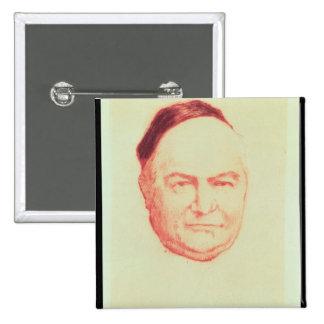 Portrait of Charles Augustin Sainte-Beuve 2 Inch Square Button