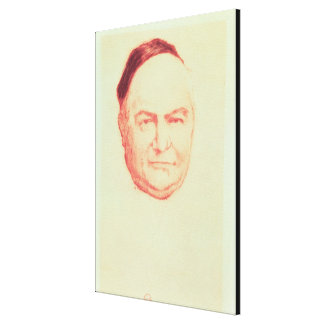 Portrait of Charles Augustin Sainte-Beuve Canvas Print