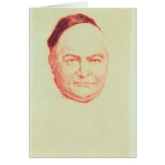 Portrait of Charles Augustin Sainte-Beuve Greeting Card