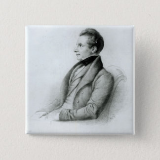 Portrait of Charles Babbage  1832 Button