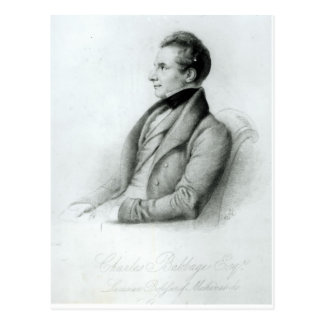 Portrait of Charles Babbage  1832 Postcard