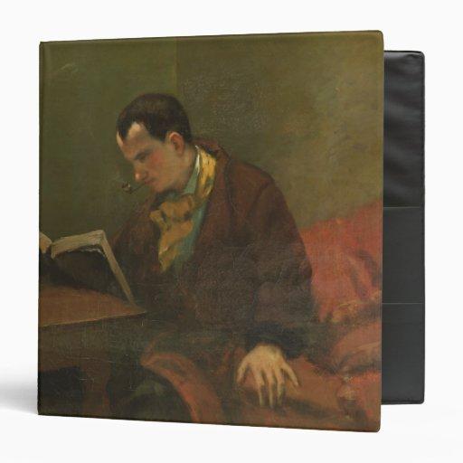 Portrait of Charles Baudelaire  1847 3 Ring Binder