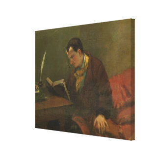 Portrait of Charles Baudelaire  1847 Canvas Print