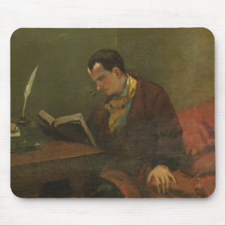 Portrait of Charles Baudelaire  1847 Mousepad