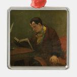 Portrait of Charles Baudelaire  1847 Ornaments