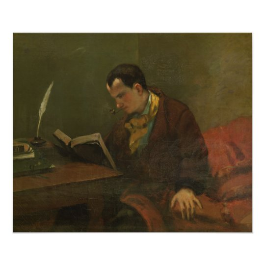 Portrait of Charles Baudelaire  1847 Poster