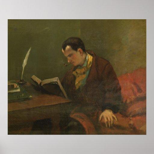 Portrait of Charles Baudelaire  1847 Print