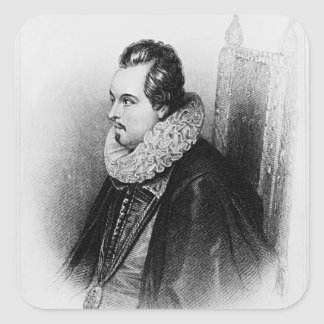 Portrait of Charles Blount  8th Earl of Square Sticker