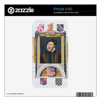 Portrait of Charles Brandon (1488-1545) Duke of Su Skin For iPhone 4S