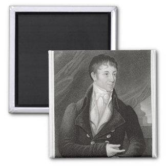 Portrait of Charles Brockden Brown (1771-1810), en 2 Inch Square Magnet