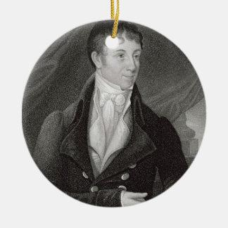 Portrait of Charles Brockden Brown (1771-1810), en Ceramic Ornament