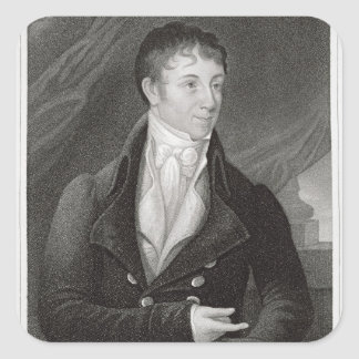 Portrait of Charles Brockden Brown (1771-1810), en Square Sticker