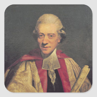 Portrait of Charles Burney, c.1781 Square Sticker
