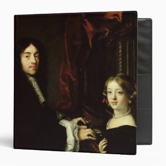 Portrait of Charles Couperin  and the Daughter 3 Ring Binder