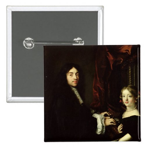 Portrait of Charles Couperin  and the Daughter Buttons