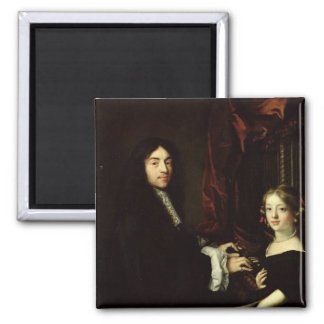 Portrait of Charles Couperin  and the Daughter Magnet