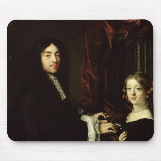 Portrait of Charles Couperin  and the Daughter Mouse Pad