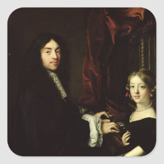Portrait of Charles Couperin  and the Daughter Stickers