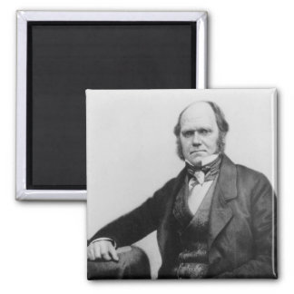 Portrait of Charles Darwin, 1854 2 Inch Square Magnet