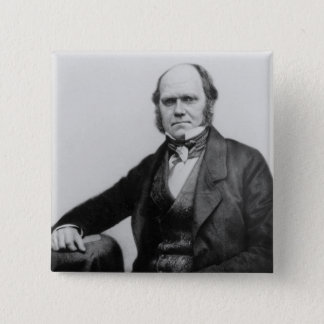 Portrait of Charles Darwin, 1854 Pinback Button