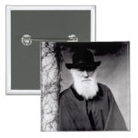 Portrait of Charles Darwin  1881 2 Inch Square Button
