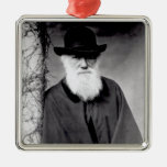 Portrait of Charles Darwin  1881 Metal Ornament