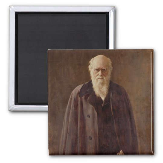 Portrait of Charles Darwin  1883 Magnet