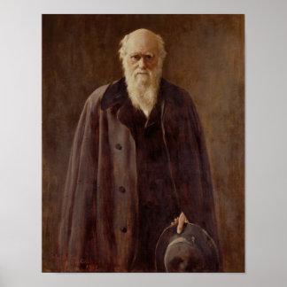 Portrait of Charles Darwin  1883 Poster