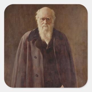 Portrait of Charles Darwin  1883 Square Sticker