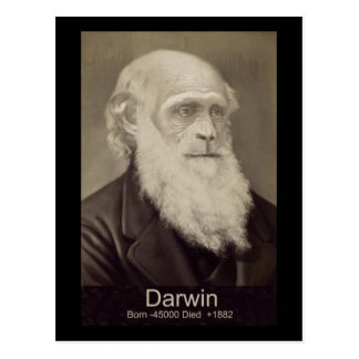 Portrait of Charles Darwin. By Chromosome X Evolve Postcard