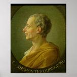 Portrait of Charles de Montesquieu Poster