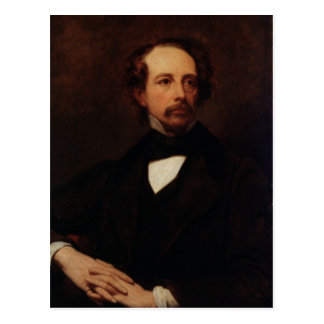 Portrait of Charles Dickens  1855 Postcard