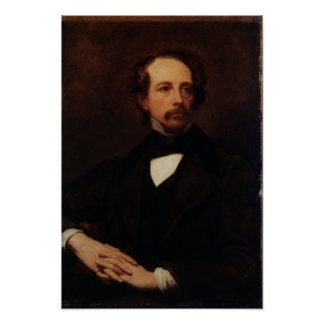 Portrait of Charles Dickens  1855 Poster