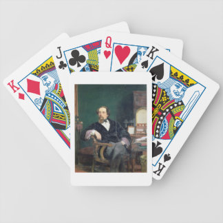 Portrait of Charles Dickens (oil on canvas) Bicycle Playing Cards