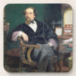Portrait of Charles Dickens (oil on canvas) Coaster