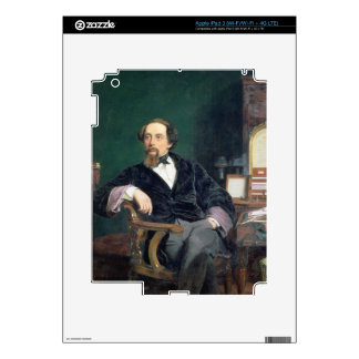 Portrait of Charles Dickens (oil on canvas) iPad 3 Skins