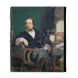 Portrait of Charles Dickens (oil on canvas) iPad Folio Covers