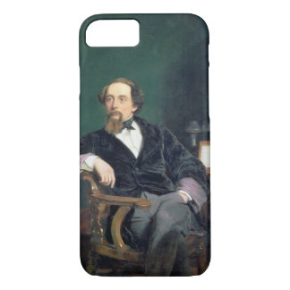 Portrait of Charles Dickens (oil on canvas) iPhone 7 Case