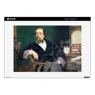 Portrait of Charles Dickens (oil on canvas) Laptop Skin