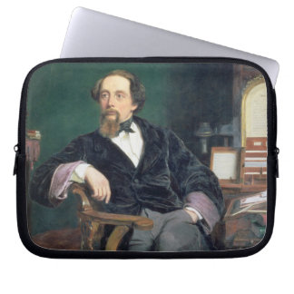 Portrait of Charles Dickens (oil on canvas) Laptop Computer Sleeves