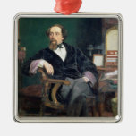 Portrait of Charles Dickens (oil on canvas) Christmas Ornaments