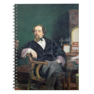 Portrait of Charles Dickens (oil on canvas) Spiral Notebook