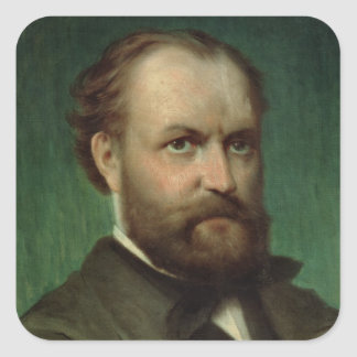 Portrait of Charles Gounod Square Sticker