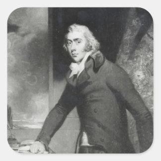 Portrait of Charles Grey, Earl Grey Square Sticker
